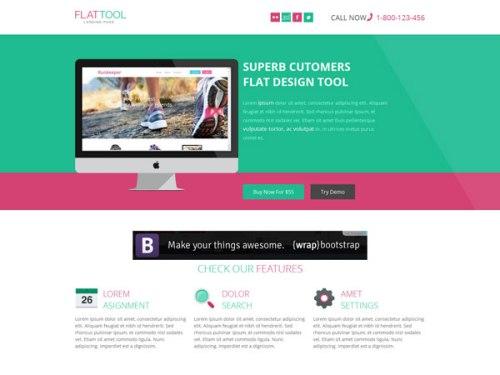 Flat Tool - Corporate Flat Responsive Template