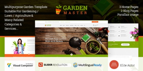 Garden Master - WordPress Agriculture & Lawn Shop Theme