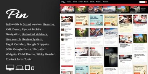 Pin - Grid Personal Magazine WordPress Theme