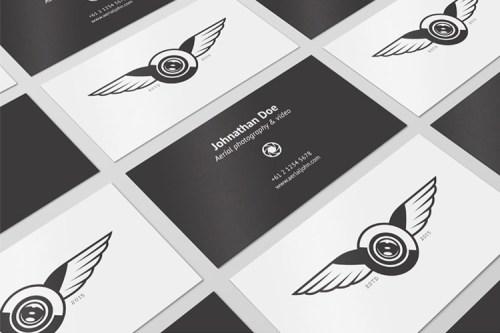 4 Business Cards Mockups