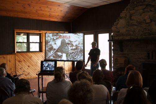 Bob Sleigh teaching us how to spot morels.
