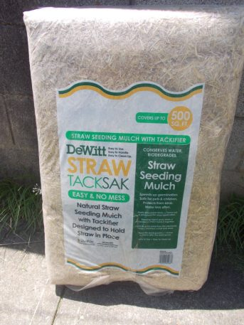 Bag of straw substrate