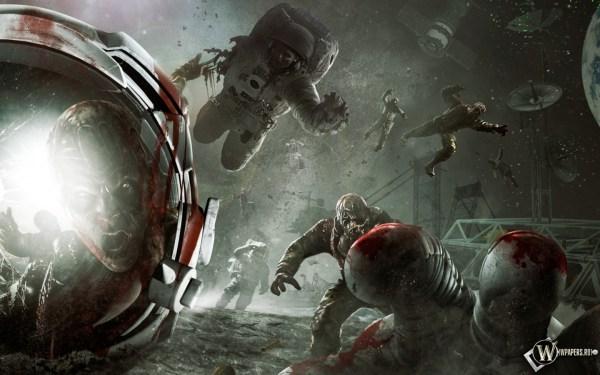 Скачать обои Зомби в космосе (Ужас, Зомби, Трупы ...