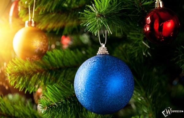 Скачать обои Новый Год (Новый год, Шар, Шары, Праздник ...