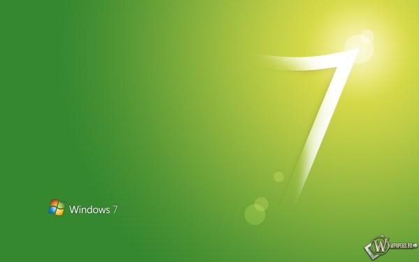 Скачать обои Windows 7 Зелёный Windows 7 для рабочего