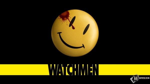 Скачать обои Watchmen (Кровь, Смайлик, Значок, Смотрители ...
