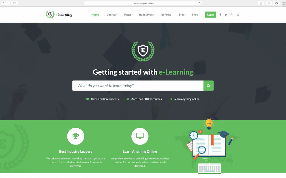Best Learning Management System LMS WordPress Themes 2016