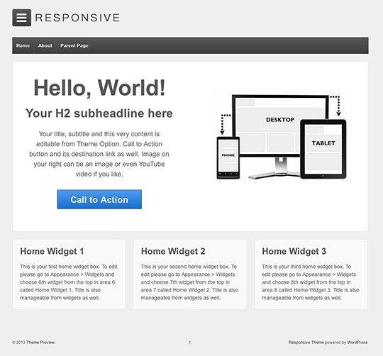 Responsive- Best free responsive WordPress theme