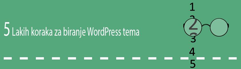 5 lakih koraka za biranje WordPress teme