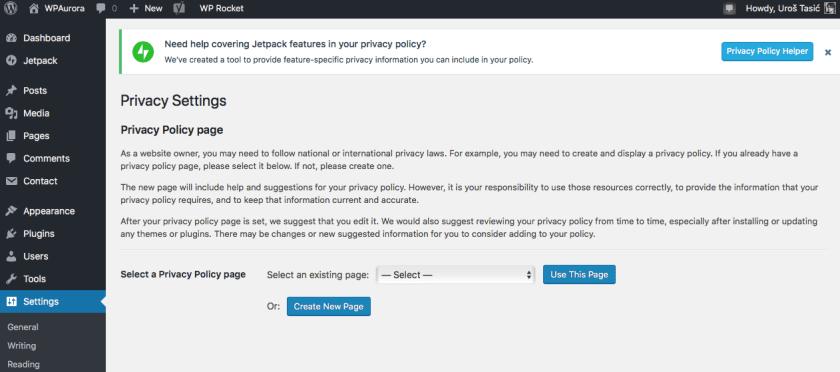Promena vezana za opcije. WordPress 4.9.6