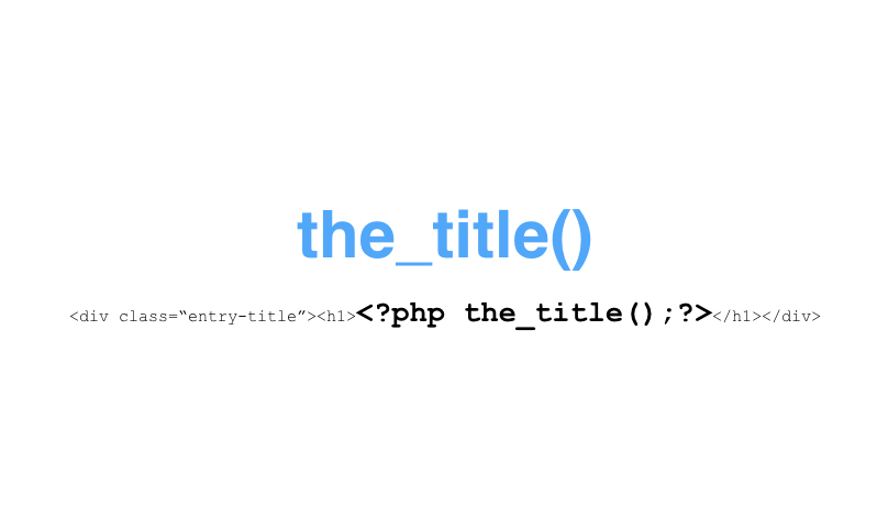 The the_title() function