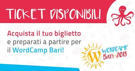 WordCamp Bari – Agenda e Biglietti disponibili