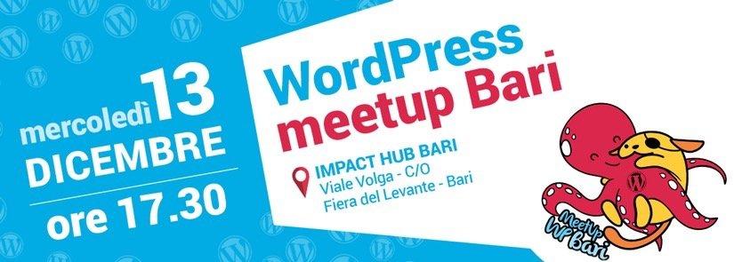 WordPress meetup Bari • Dicembre 2017
