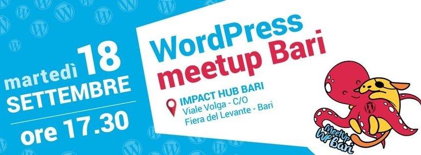 banner meetup WordPress Bari Settembre2018