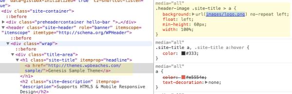Add logo in Genesis Header, better for responsive design