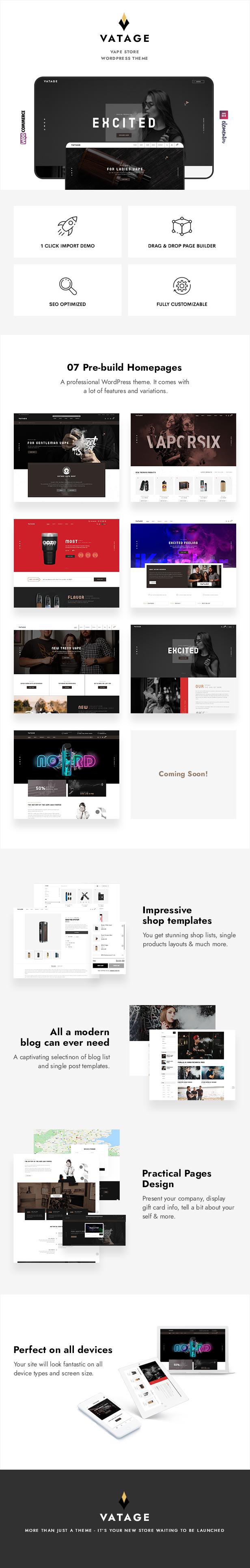 Vatage – Vape WooCommerce WordPress Theme - 1