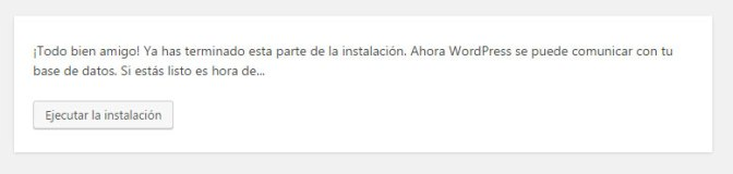 Final proceso de instalar WordPress manualmente