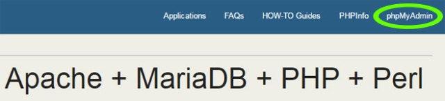 Acceder a la base de datos en XAMPP mediante phpMyAdmin