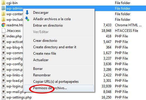 Camibar permisos de archivo para solucionar problema 403 Forbidden Error