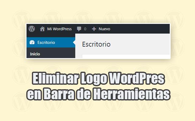 Eliminar Logo WordPress de Barra de Herramientas