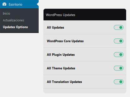 Habilitar todas las actualizaciones de WordPress con Easy Update Manager