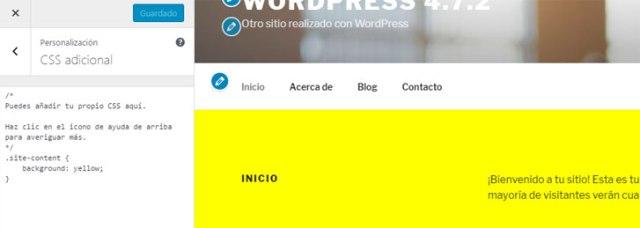 visualizar los cambios al editar estilo css del tema de WordPress