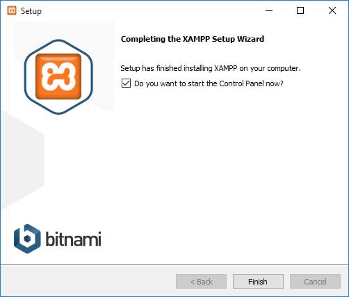 abrir panel de control de XAMPP