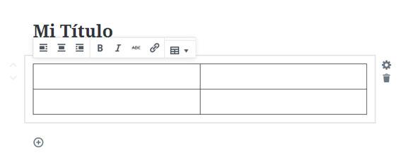Insertar Tabla en WordPress con el Editor Gutenberg