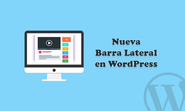 Insertar nueva barra lateral sidebar en WordPress