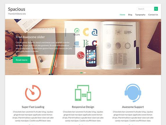 Enlace de demo del gratuito tema Spacious de WordPress
