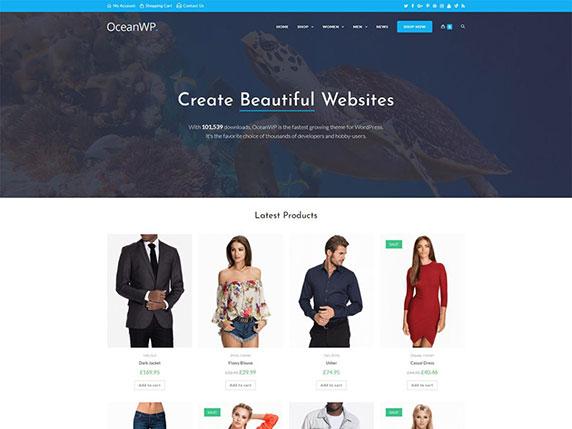 Enlace de demo del gratuito tema OceanWP de WordPress