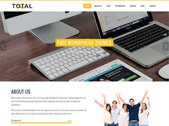 Enlace de demo del gratuito tema Total de WordPress