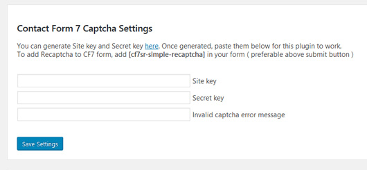 Plugin Contact Form 7 Captcha para combatir el Spam en WordPress
