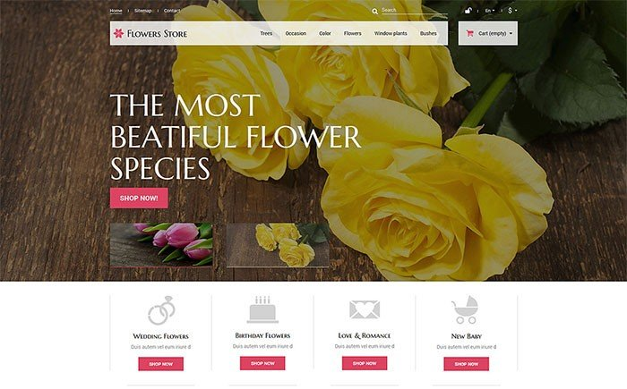 Flowers Store PrestaShop Theme