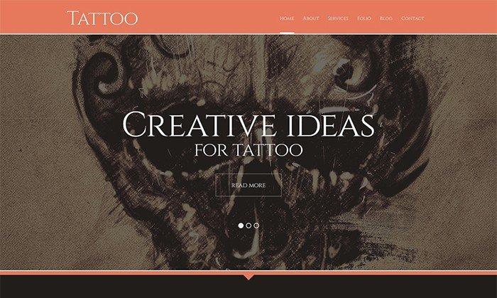 Tattoo Services Responsive WordPress Theme