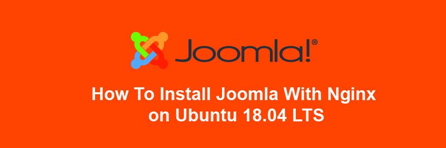 Install Joomla With Nginx on Ubuntu 18