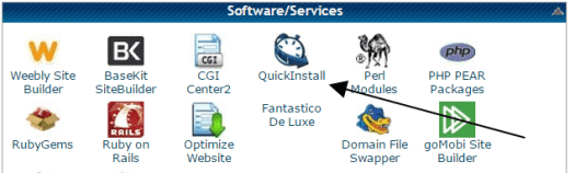 Link to QuickInstall in HostGator cPanel