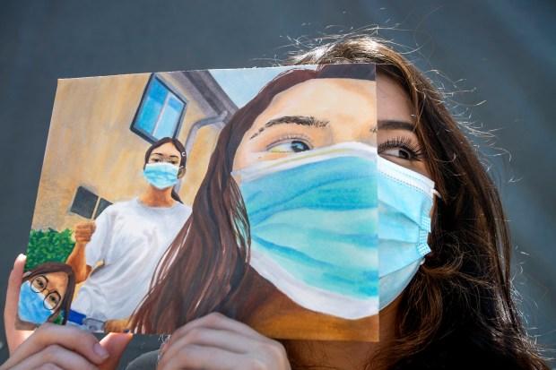 San Fernando student's award-winning art captures a masked moment of joy during a rotten year