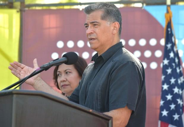 Pomona migrant shelter 'a model' for others, HHS Secretary Xavier Becerra says