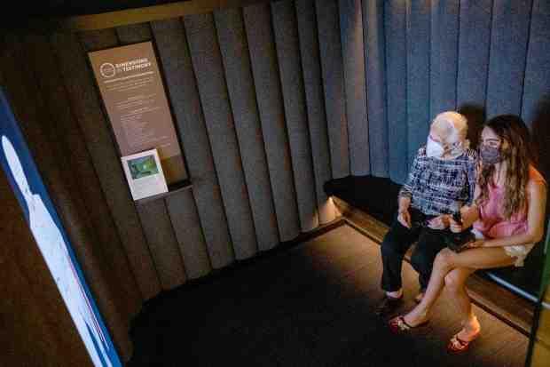 Holocaust survivors' experiences captured in groundbreaking holographic display at LA museum