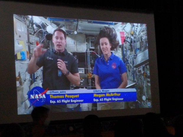Student from the Hart Union High School District talk to astronauts on the International Space Station