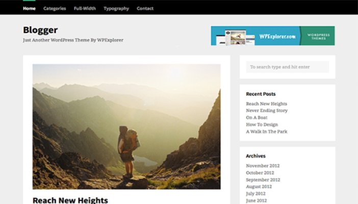 Blogger-Free-WordPress-Theme