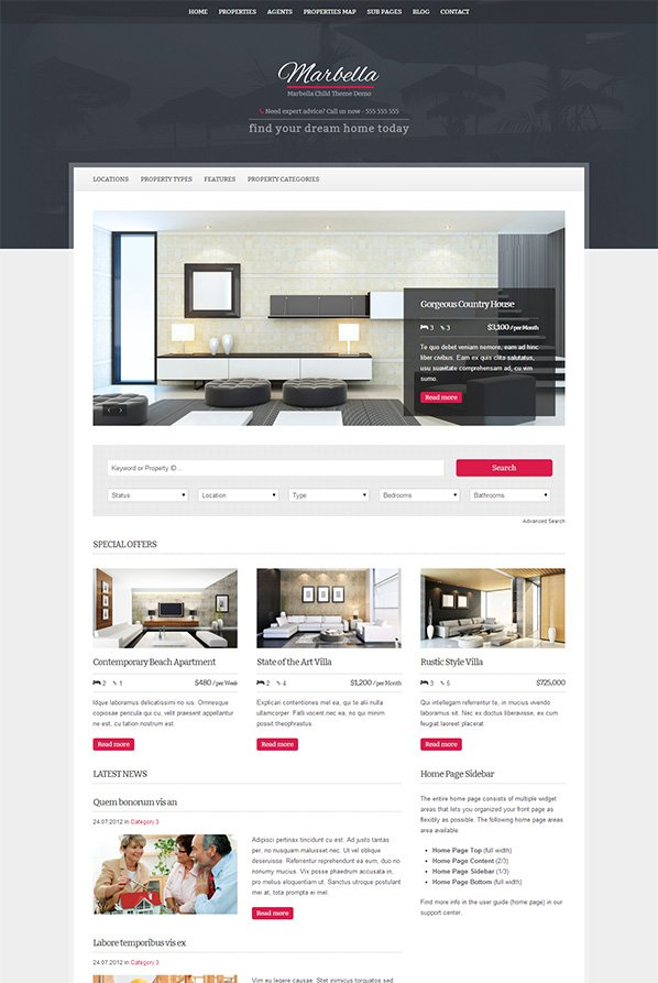 Marbella-WordPress-Theme
