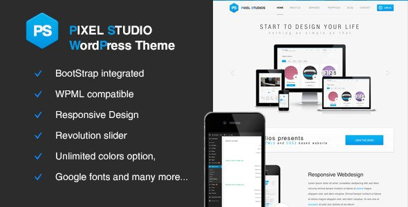 Pixel Studio WordPress Theme