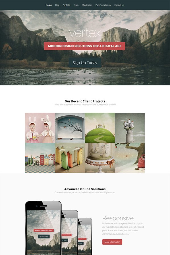 Vertex WordPress Theme