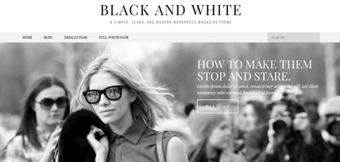Black & White Magazine WordPress Theme