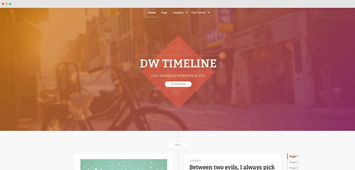DW Timeline WordPress Theme