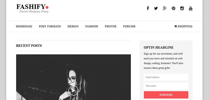 Fashify - Clean WordPress Theme