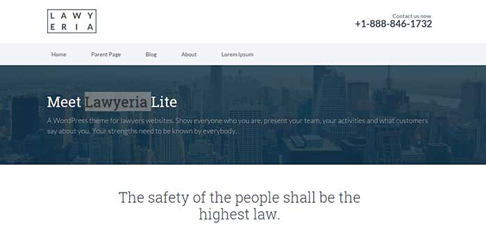Lawyeria Lite - Free WordPress Theme