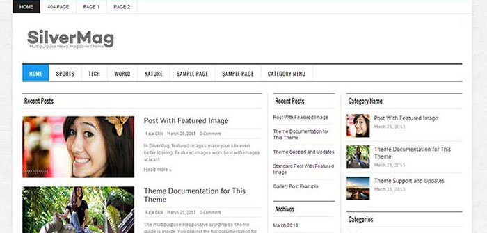 Sliver Mag Lite- A Free WordPress Theme